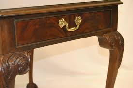 Drexel Desk Pr Of Mahogany Chippendale Style Tables By Drexel Heritage