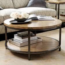 reclaimed wood round coffee table smart design ideas of round coffee tables table regarding wood idea