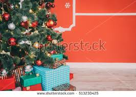 beautiful christmas living room decorated christmas stock photo