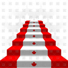 Flag Of Canada Ladder With Flag Of Canada Staircase Royalty Free Vector Clip