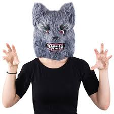 wolf costume wolf mask scary animal masks halloween costumes