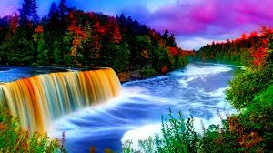 wallpaper full hd computer free waterfall and rainbow wallpaper full hd long wallpapers
