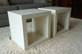 wood cube end table furniture cube end table weighted storage walnut argos black white