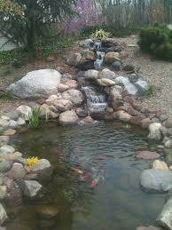 backyard fish pond and waterfall c e pontz sons landscape