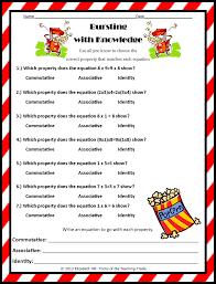 Identity Property Of Multiplication Worksheets Tricks Of The Teaching Trade Popping About The Properties Of
