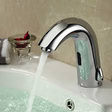 Automatic Water Faucet Chrome Bathroom Sink Faucet With Automatic Sensor And Cold