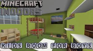 Minecraft Bathroom Designs Kids Bedroom For Boys Minecraft Indoors Interior Design Youtube