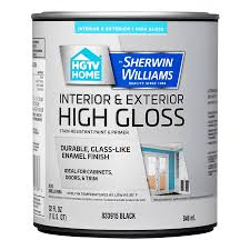 shop hgtv home by sherwin williams door and trim high gloss black