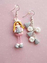 christmas earrings clay christmas jewelry collection