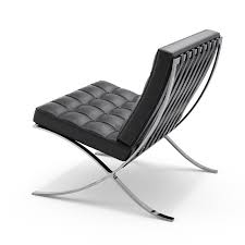Single Seat Leather Lounge Chair Design Ideas Barcelona Chair Knoll