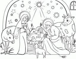 coloring nativity aecost net aecost net