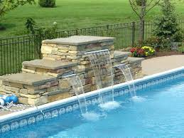 diy pool waterfall diy inground pool waterfalls for pools pool waterfall best pool