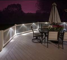 aluminum rail u0026 wood deck lights i lighting led solutions