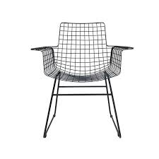 Metal Armchair Products Details Furniture Metal Wire Chair With Arms Black