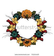 vintage wreath template thanksgiving day christian stock vector
