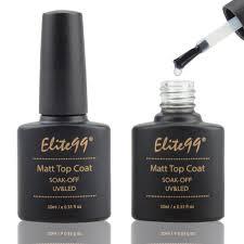 elite99 matte top coat uv led soak off gel nail polish lacquer