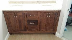 Bathroom Vanity New York by New York Walnut Bathroom Vanity Transitional With White Carrara