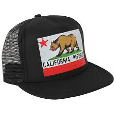 American Flag Snapback Hat California Republic Original State Flag Snapback Hat On Black