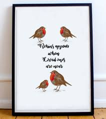 cardinal bird home decor memorial print robins appear when loved ones are near a4