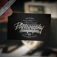 business card mockup in retro style psd file free