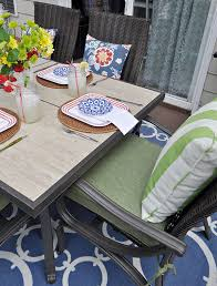 Hampton Bay Outdoor Rugs Outdoor Dining Set Only The Beginning Of Deck Makeover