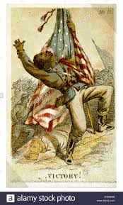 American Battle Flag African American Soldier Carrying U S Flag Being Shot In Battle