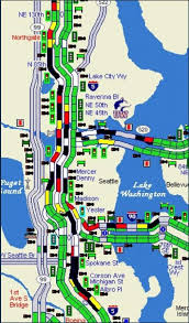 seattle map traffic highways backed up after suspicious package found in seattle