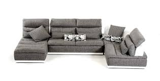 Sectional Sofa Sale Free Shipping by Made In Italy Grey Fabric And White Leather Sectional Sofa El Paso