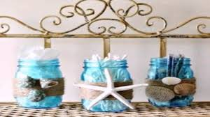 Beach Style Bathroom Decor Diy Beach Themed Bathroom Decor Youtube