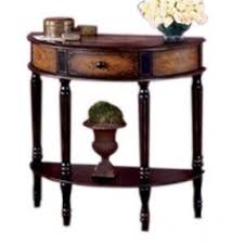 Half Circle Accent Table Half Sofa Table Foter