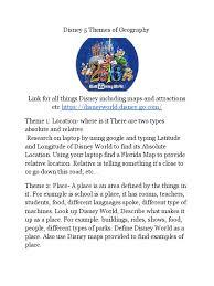 Disney Maps Disney 5 Themes Of Geography Walt Disney Walt Disney World