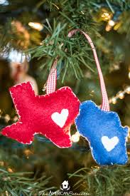 felt christmas ornaments diy home state felt christmas ornament the american patriette