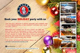 tyson u0027s biergarten booking your holiday party at the tysons