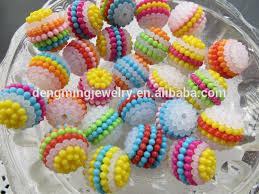cara membuat kerajinan akrilik kualitas terbaik berry beads fashion grosir chunky akrilik berry