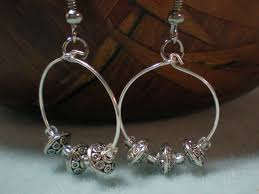 spacer earrings silver spacer beaded hoop earrings tutorial