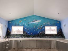 dennis day designs lettering pinstriping murals wall murals i realize that sharks have a very black lifeless looking eye but my customers told me they didn t want it to be too scary there are going to be kids