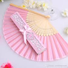 cheap wedding fans luxurious silk fan in gift box wedding bridal shower