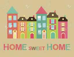 home sweet home card illustration royalty free cliparts vectors