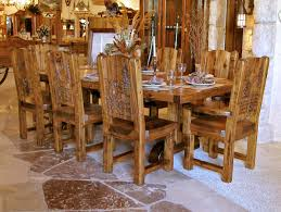 Log Cabin Dining Room Furniture Furniture Attractive Walnut Dining Table Log Furniture Photos