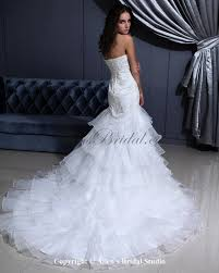 allens bridal organza sweetheart chapel train mermaid wedding