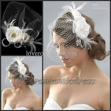 hair pieces for wedding cheap beaded feather hair pieces wedding bridal hat birdcage veil