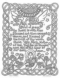 catholic printables hail mary catholic coloring page catholic