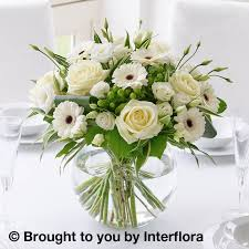 Wedding Flowers Delivery Wedding Flowers White Table Centrepiece Isle Of Wight Flowers