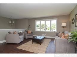 living room setup split level furniture placement with fireplace