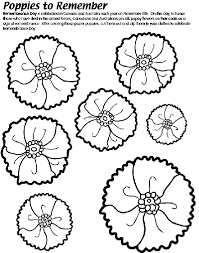 poppies to remember coloring page i love teaching pinterest