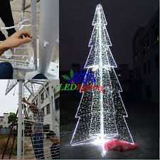 Commercial Wire Frame Christmas Decorations by 10m Artificial Large Christmas Tree Iron Frame Tope Star White