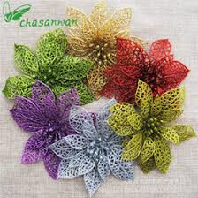 Wholesale Florist Christmas Decorations by Discount Artificial Flowers For Christmas Tree Decorations 2017