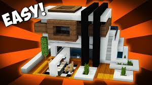Modern House Minecraft Minecraft How To Make A Futuristic Modern House Tutorial Mini