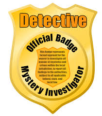clipart detective or police badge remix