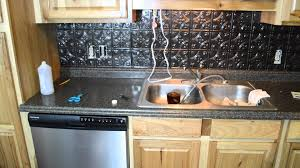 interior diy kitchen remodel with tile backsplash and sink for